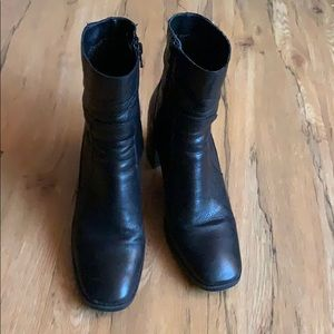 Leather boots Zara